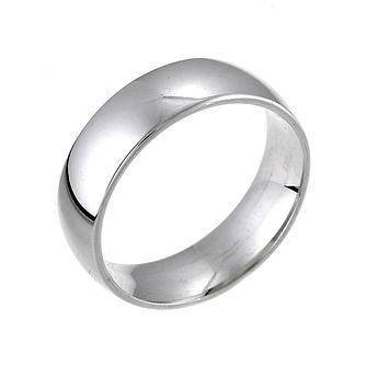 18ct White Gold 6mm Extra Heavy Court Ring - Product number 5104661