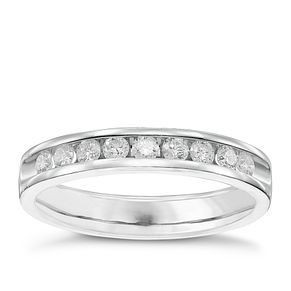 9ct White Gold 33pt Diamond Band - Product number 5107911
