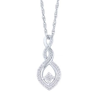 Sterling Silver 1/8 Carat Diamond Twist Pendant - Product number 5109507