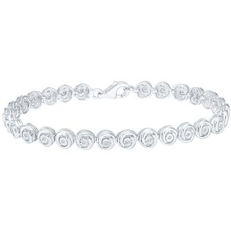 Sterling Silver 0.10 Carat Diamond Tennis Bracelet - Product number 5109531