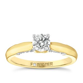 18ct Gold 1/2 Carat Forever Diamond Ring - Product number 5109914