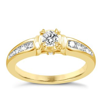 9ct Gold 2/5 Carat Diamond Solitaire Ring - Product number 5111633