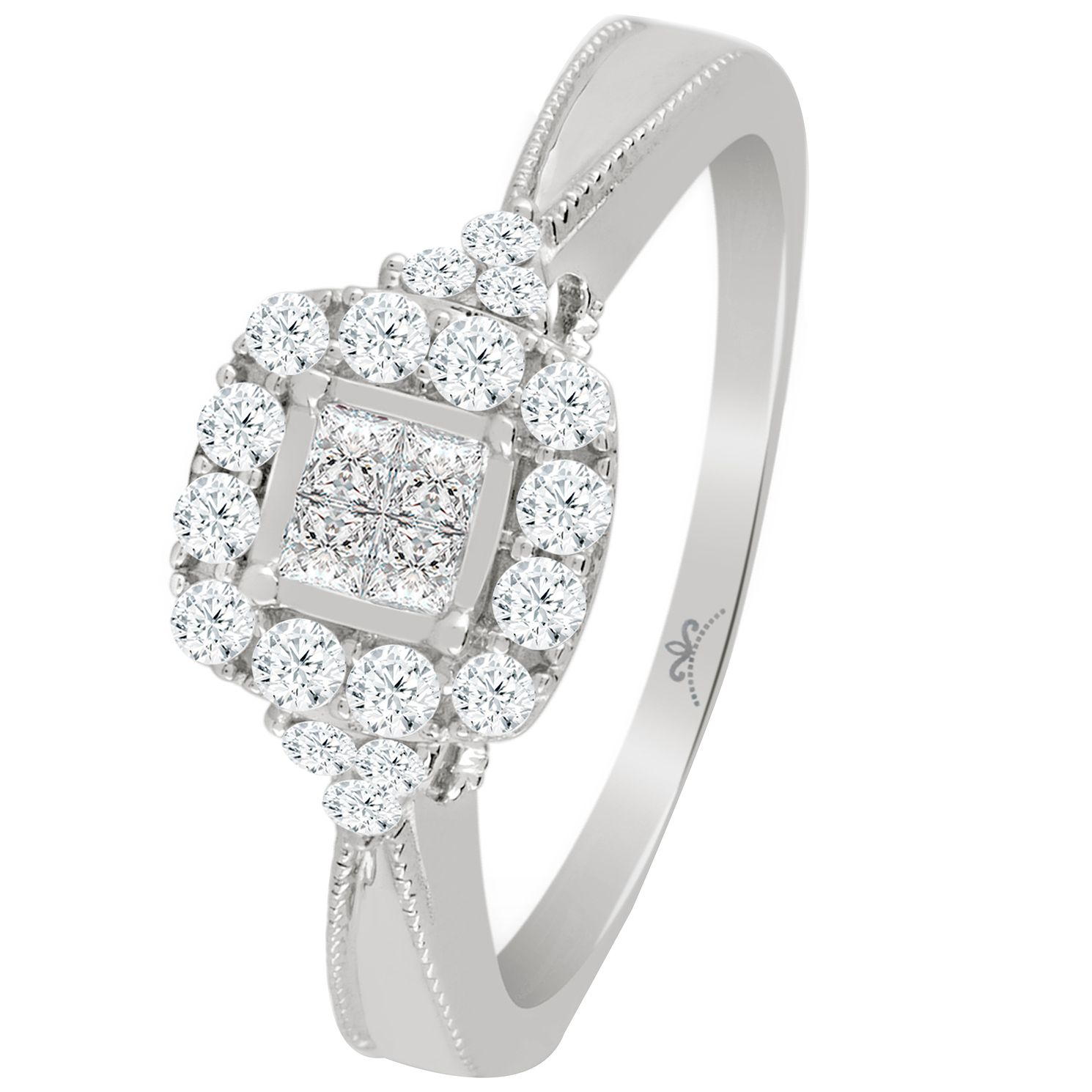 ie cluster click zoom rings ladies engagement e gold fields wedding diamond square white ring to