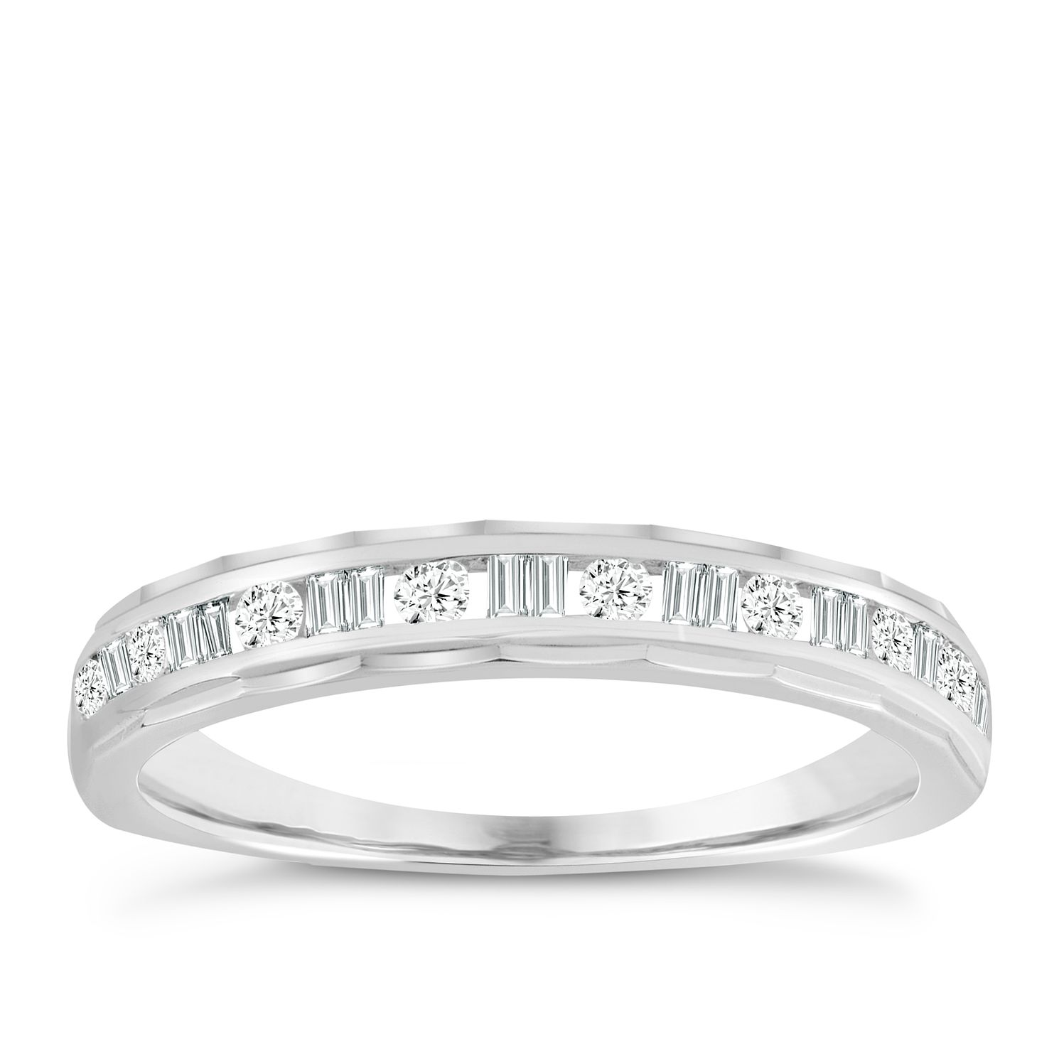 in main views stackable eternity carat band ring white gold diamond wedding more gh whwh