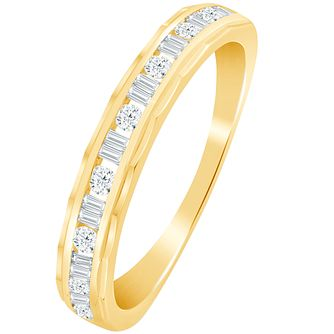 9ct Gold 1/4 Carat Diamond Eternity Ring - Product number 5112311