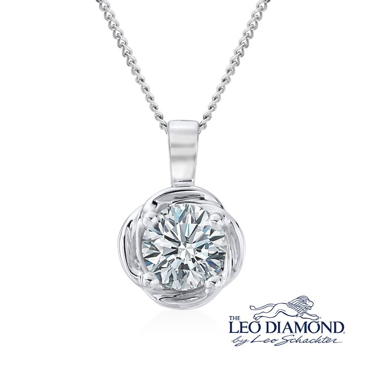 Leo Diamond Limited Edition Platinum 0.50ct Diamond Pendant - Product number 5113113