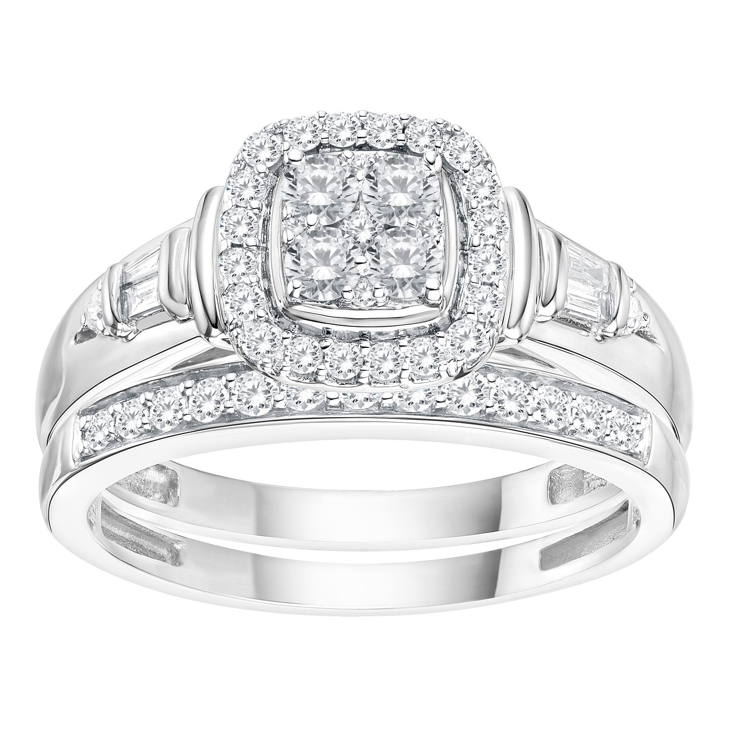 ring s diamond gold tcw white in women dm engagement unclaimed rings diamonds set dimond