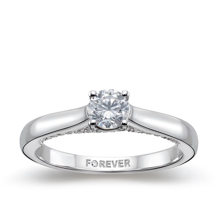 18ct White Gold 1/2ct Forever Diamond Ring - Product number 5114802