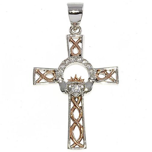 Cailin Sterling Silver & Rose Gold-Plated Cross Pendant - Product number 5119995