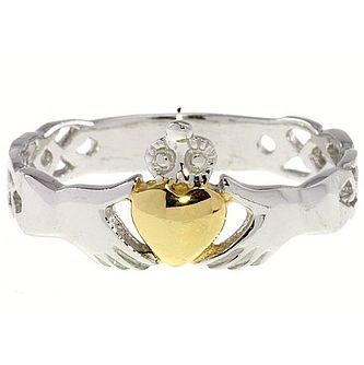 Cailin Sterling Silver & Gold-Plated Claddagh Ring - Product number 5120063