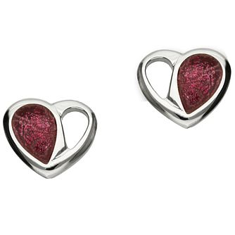 Ortak Hearts Sterling Silver Stud Earrings - Product number 5120470
