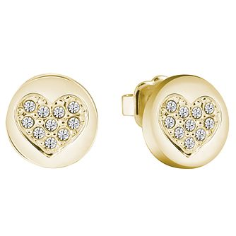 Guess Gold-Plated Little Sparkle Heart Stud Earrings - Product number 5120810