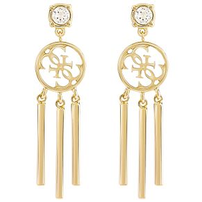 Guess Quattro G Gold-Plated Tasselled Drop Earrings - Product number 5120918