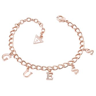 Guess Rose Gold-Plated Charm Bracelet - Product number 5121019