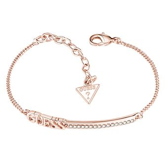 Guess Rose Gold-Plated Stone Set Bar Bracelet - Product number 5121094