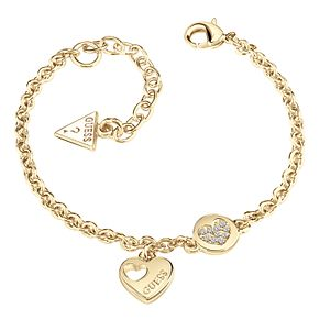 Guess Gold-Plated Little Sparkle Heart Coin Bracelet - Product number 5121132