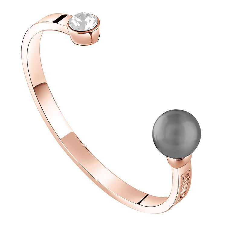 Guess Rose Gold-Plated Pearl & Crystal Bangle - Product number 5121167
