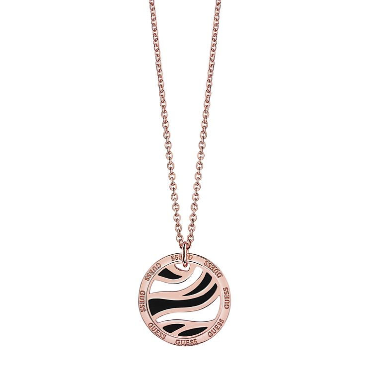 "Guess Rose Gold-Plated Open Coin Pendant 16-18"" - Product number 5121264"