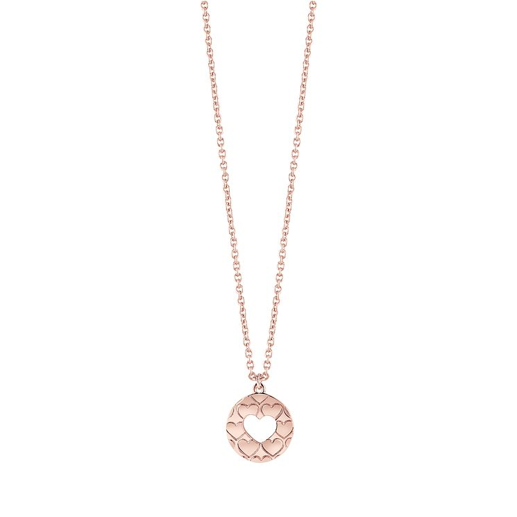 "Guess Rose Gold-Plated Heart Cut Out Pendant 16-18"" - Product number 5121299"