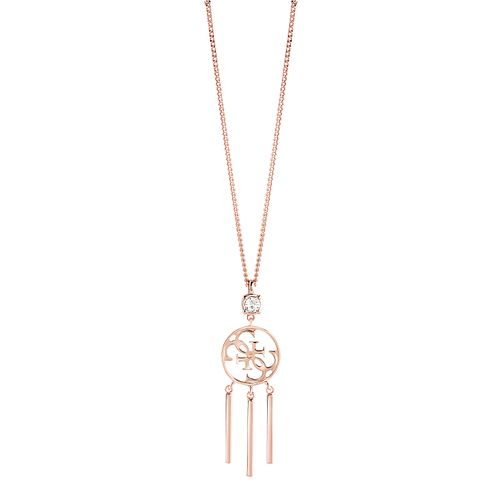 "Guess Quattro G Rose Gold-Plated Tasselled Pendant 16-18"" - Product number 5121469"