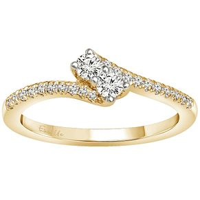 Ever Us 14ct Gold 1/3 Carat Diamond 2 Stone Ring - Product number 5124468