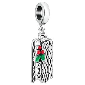 Chamilia Sterling Silver Red & Green Enamel Sled Charm - Product number 5126894