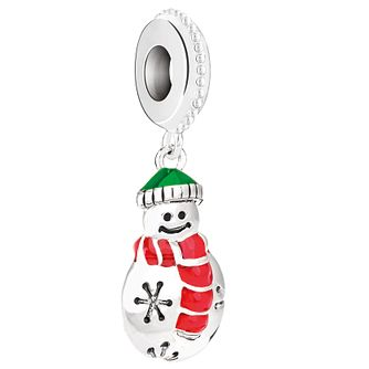 Chamilia Sterling Silver & Enamel Cozy Snowman Bead - Product number 5126916