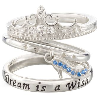 Chamilia Disney Cinderella Stacker Ring Set Small - Product number 5127459