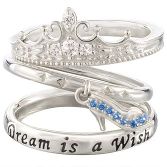 Chamilia Disney Cinderella Stacker Ring Set Large - Product number 5127491