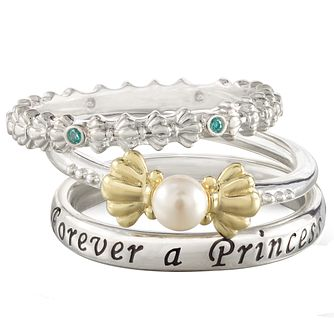 Chamilia Disney Little Mermaid Stacker Ring Set Size S - Product number 5127610