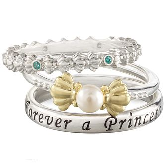 Chamilia Disney Little Mermaid Stacker Ring Set Size L - Product number 5127637