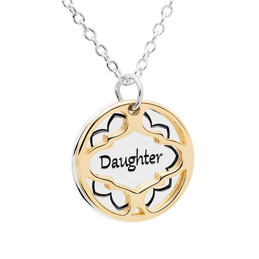 Chamilia Treasure Silver & Gold-Plated Daughter Necklace - Product number 5127742