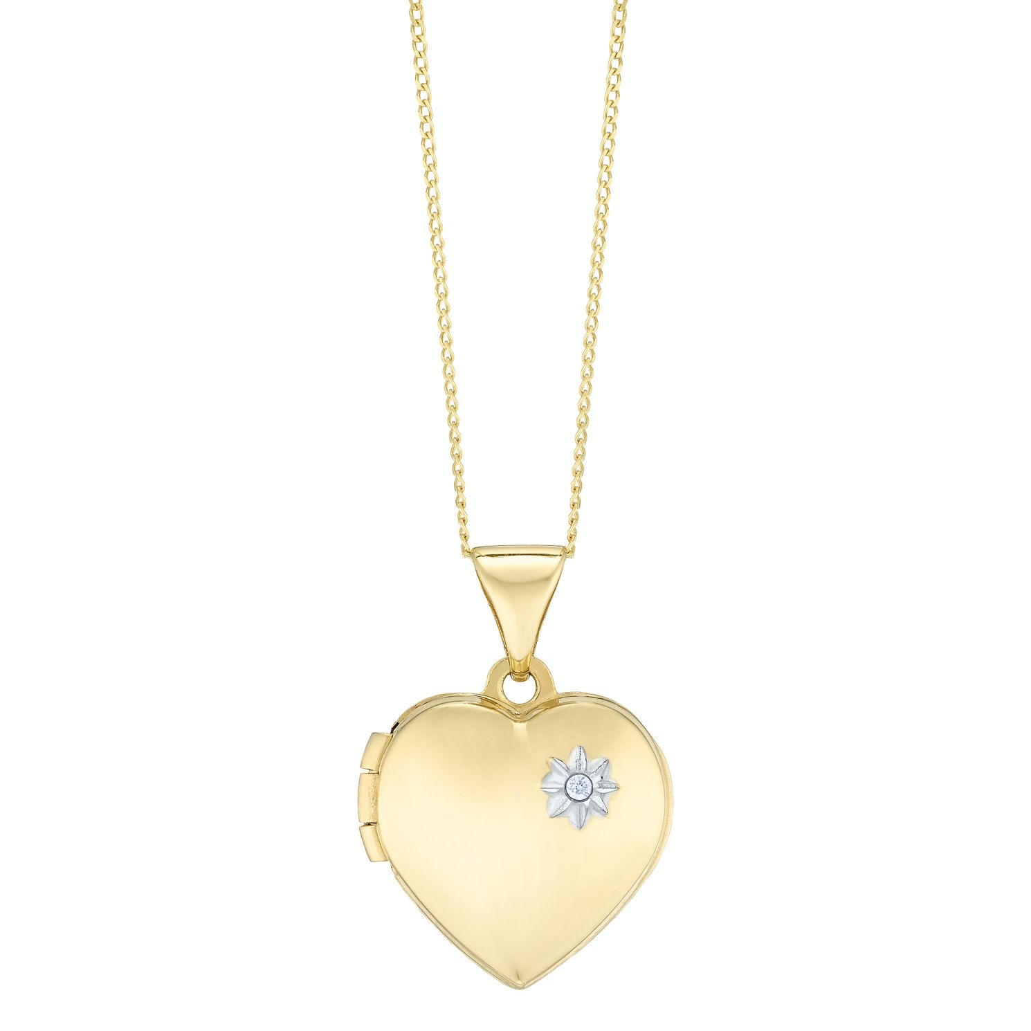 necklace plated heart com locket jewelry dp polished amazon lockets gold metal hand