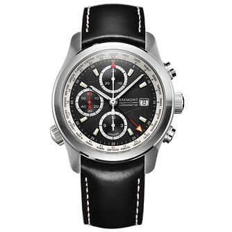 Bremont ALT1-WT/BK World Timer Men's Black Strap Watch - Product number 5129109