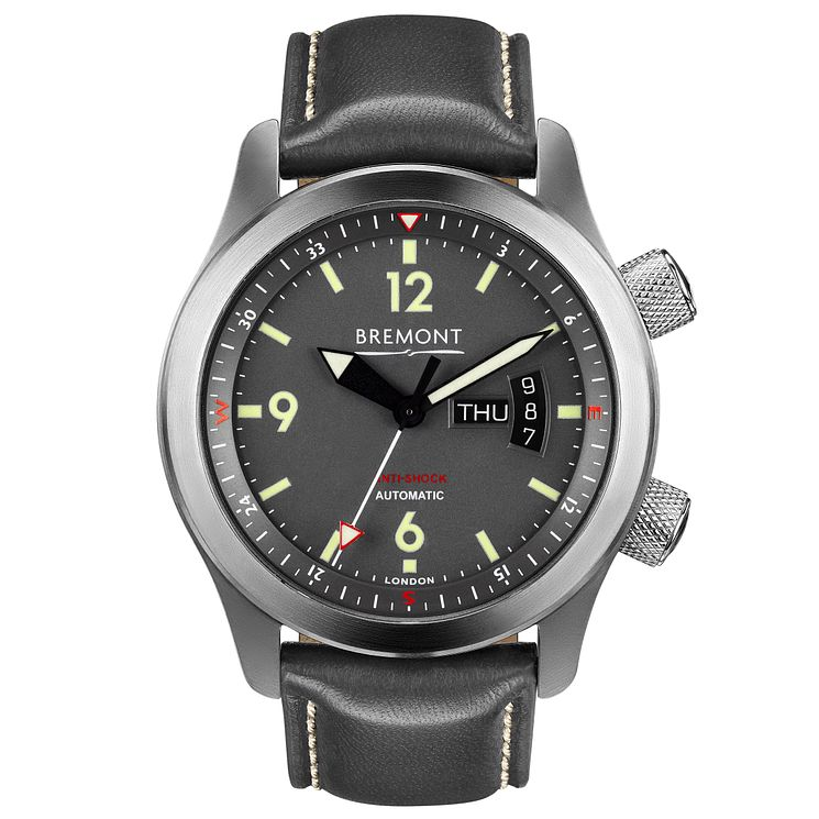 Bremont U-22 Men's Stainless Steel Leather Strap Watch - Product number 5129397