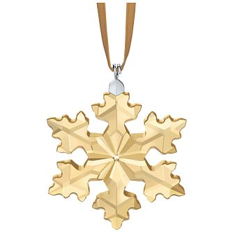 Swarovski Gold Tone Crystal Little Snowflake Ornament - Product number 5131081