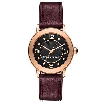 Marc Jacobs Riley Ladies' Rose Gold Tone Strap Watch - Product number 5131537