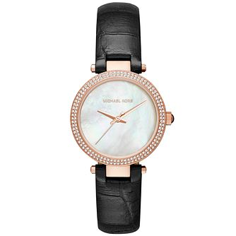 Michael Kors Mini Parker Ladies' Rose Gold Tone Strap Watch - Product number 5134234