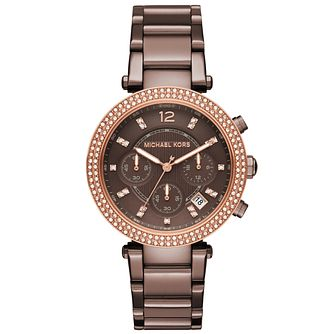 Michael Kors Parker Ladies' Ion Plated Bracelet Watch - Product number 5134293