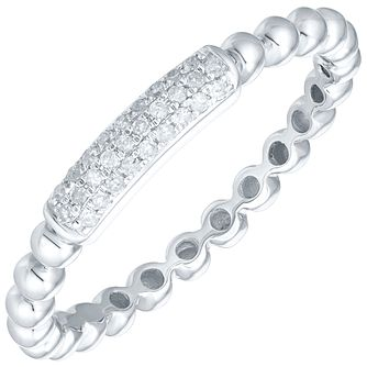 Sterling Silver Diamond Set Stacker Ring - Product number 5137500