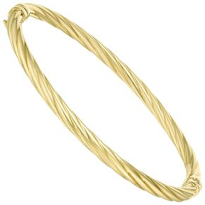 9ct Gold 4mm Twist Bangle - Product number 5142148