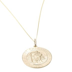 9ct Gold Large St Christopher Pendant - Product number 5150906