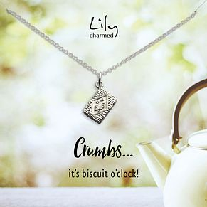 Lily Charmed Silver Custard Cream Biscuit Pendant - Product number 5156203