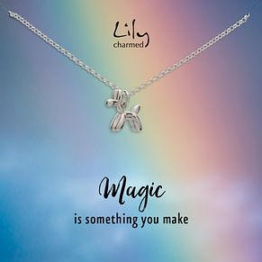 Lily Charmed Silver Balloon Dog Pendant - Product number 5156211