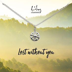 Lily Charmed Silver Compass Pendant - Product number 5156238