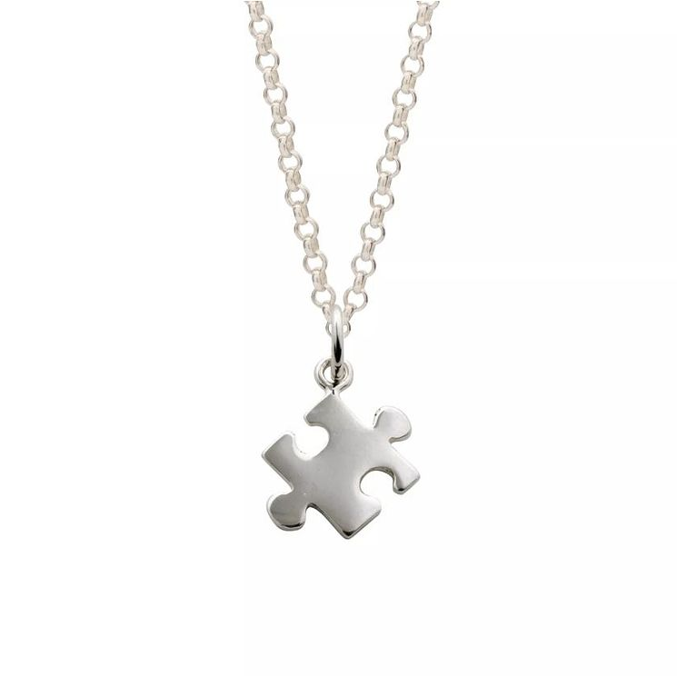 Lily Charmed Silver Jigsaw Piece Pendant - Product number 5156270