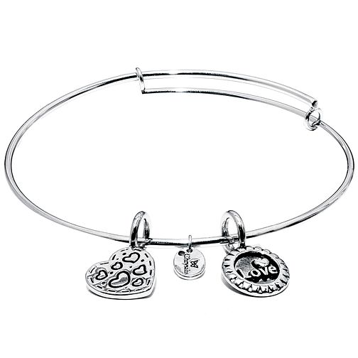 Chrysalis Rhodium plated Joy Bangle - Product number 5156394