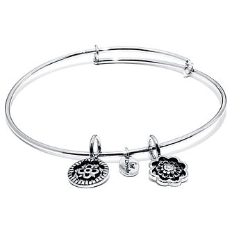 Chrysalis Rhodium plated Happiness Bangle - Product number 5156408