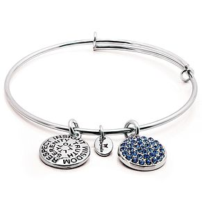 Chrysalis Rhodium plated September Swarovski crystal bangle - Product number 5156459