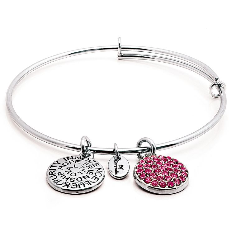 Chrysalis Rhodium plated October Swarovski Bangle - Product number 5156467